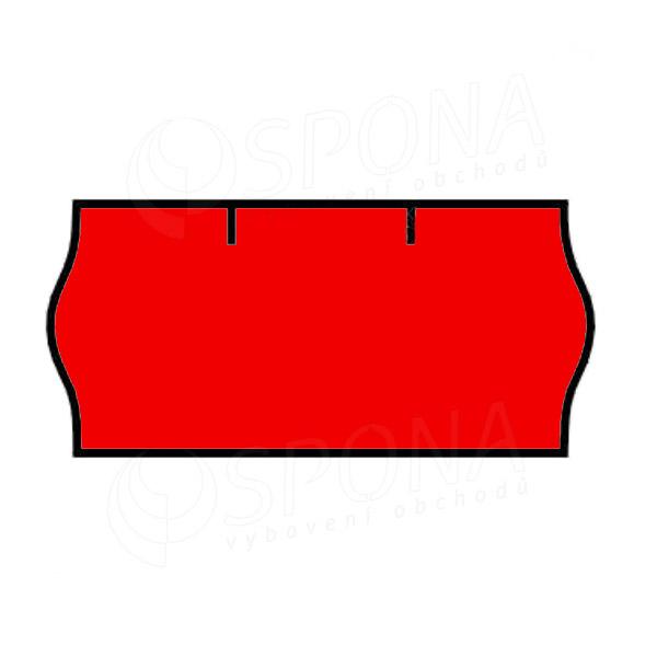 Etikety do kleští CONTACT, zaoblené, 26 x 12 mm, červené