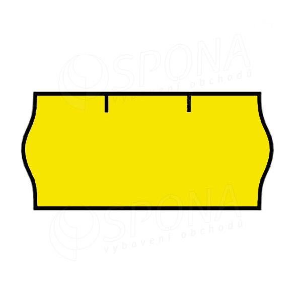 Etikety do kleští CONTACT, zaoblené, 26 x 12 mm, žluté