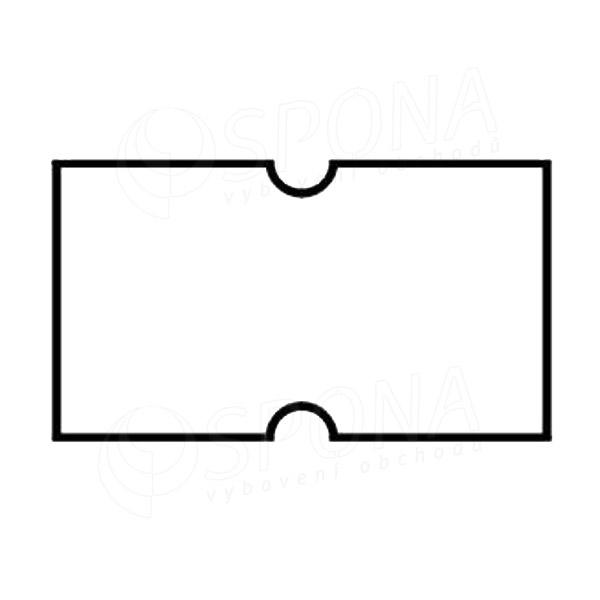 Etikety do kleští COLA-PLY, rovné, 22 x 12 mm, bílé