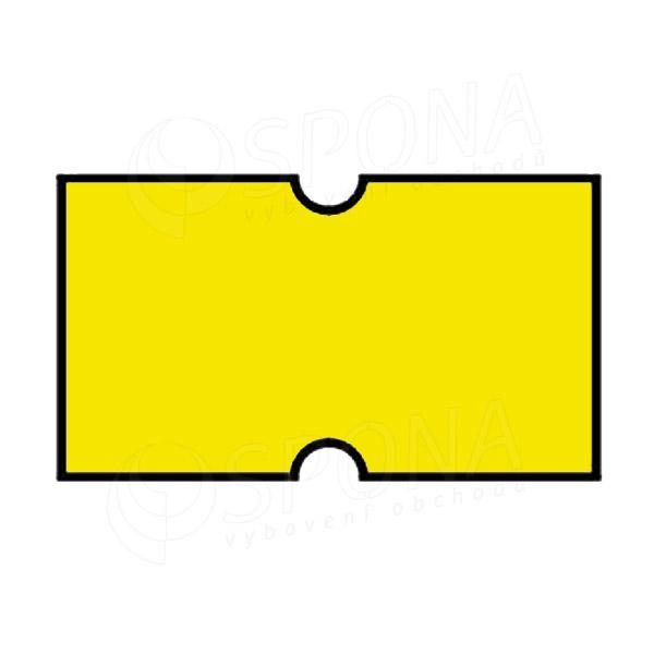 Etikety do kleští COLA-PLY, rovné, 22 x 12 mm, žluté