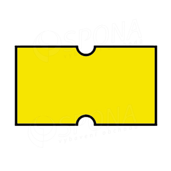 Etikety do kleští, COLA-PLY 22 x 12 mm, žluté
