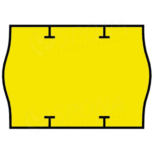 Etikety do kleští, START PRIX 26 x 18 mm, žluté