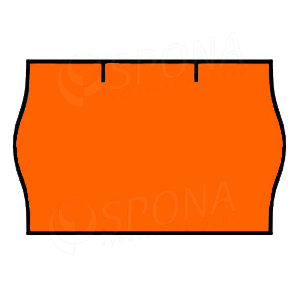 Etikety do kleští CONTACT, zaoblené, 25 x 16 mm, kulaté, oranžové