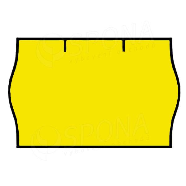 Etikety do kleští CONTACT, zaoblené, 25 x 16 mm, kulaté, žluté