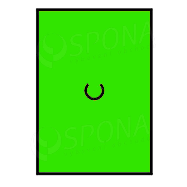 Etikety do kleští MOTEX, rovné, 16 x 23 mm, zelené