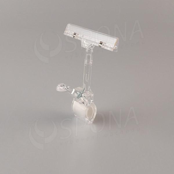 MEMO clip XL s prstem, skřipec do max. průměru 32 mm, transparentní