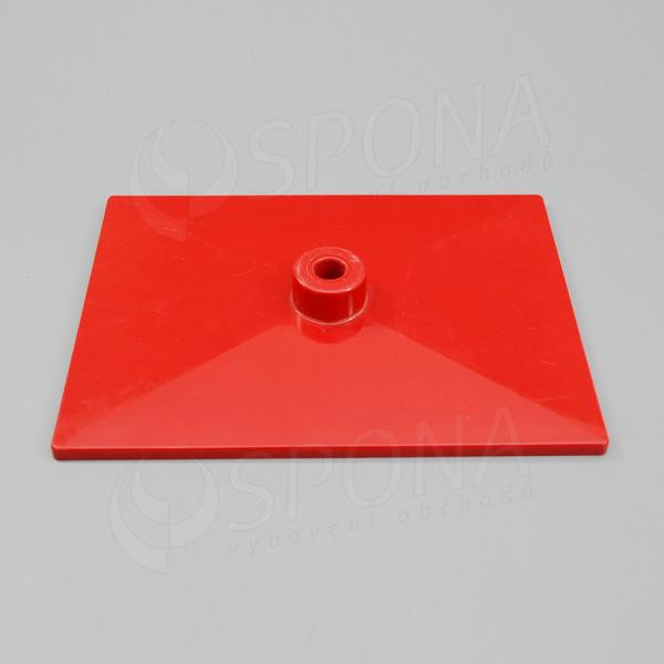 PLAKÁT K deska 20 x 15 cm, červená