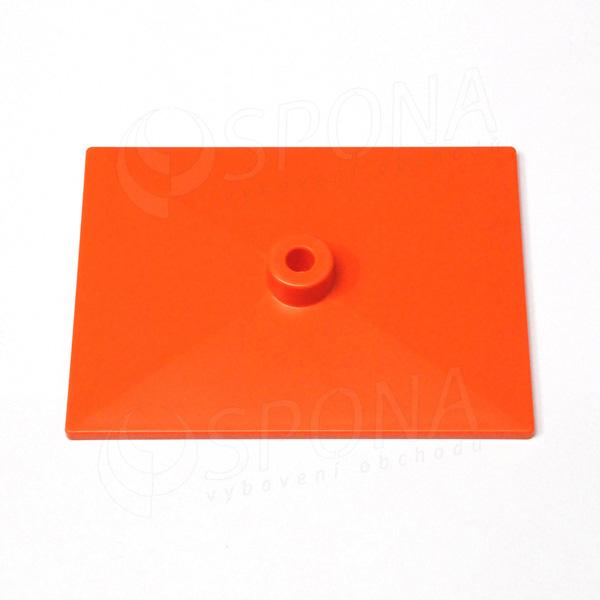 PLAKÁT K deska 20 x 15 cm, oranžová