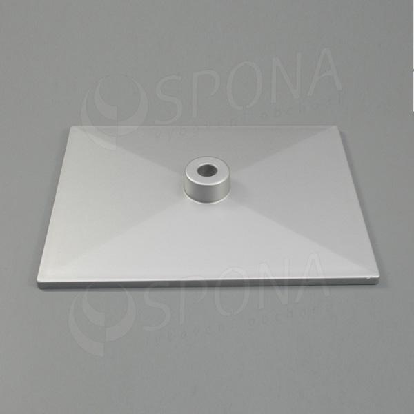 PLAKÁT K deska 20 x 15 cm, stříbrná