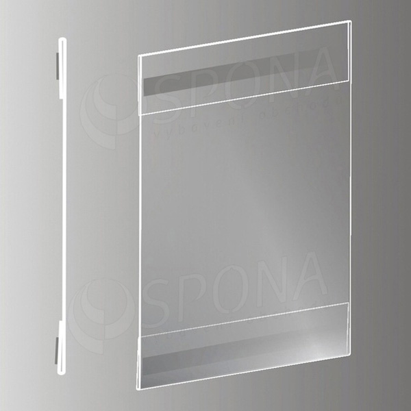 Samolepící plakátová kapsa typ C, formát A6, antireflexní PVC
