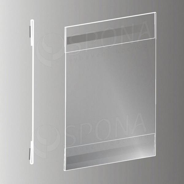 Magnetická plakátová kapsa typ C vertikální, formát A4, antireflexní PVC