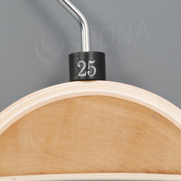 Minireitery 25, 25 ks, černé, stříbrný tisk