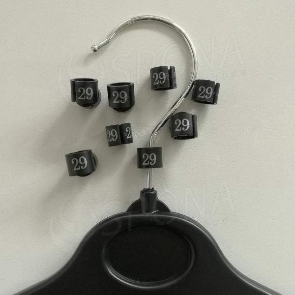 Minireitery 29, 25 ks, černé, stříbrný tisk