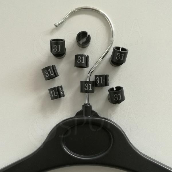 Minireitery 31, 25 ks, černé, stříbrný tisk