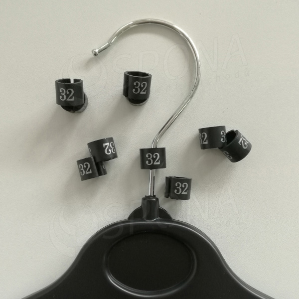 Minireitery 32, 25 ks, černé, stříbrný tisk