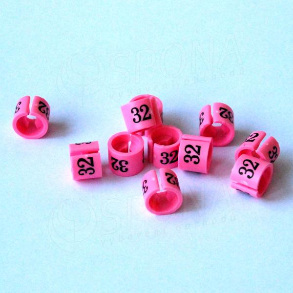 Minireitery 32, 25 ks, růžové