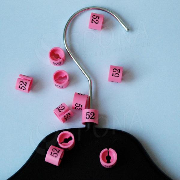 Minireitery 52, 25 ks, růžové
