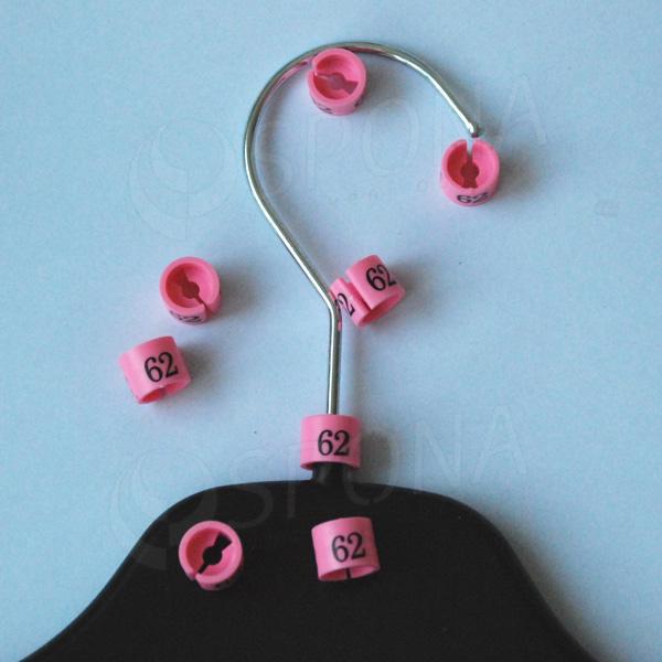 Minireitery 62, 25 ks, růžové