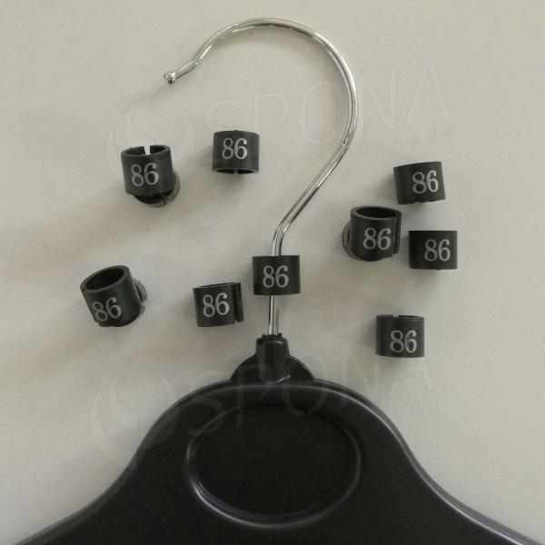 Minireitery 86, 25 ks, černé, stříbrný tisk