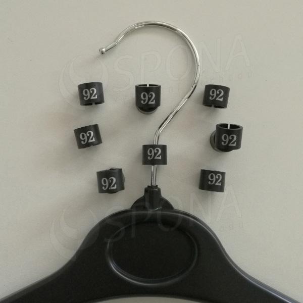 Minireitery 92, 25 ks, černé, stříbrný tisk