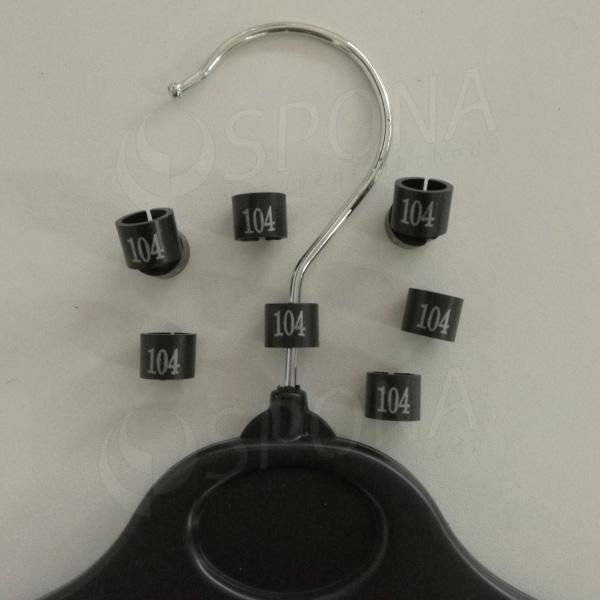 Minireitery 104, 25 ks, černé, stříbrný tisk