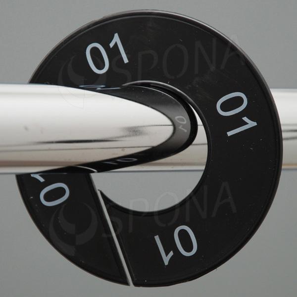 Velikostní kruhy 01 černé, bílé písmo