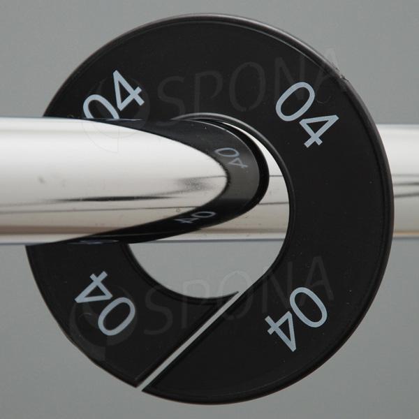 Velikostní kruhy 04 černé, bílé písmo