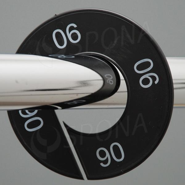 Velikostní kruhy 06 černé, bílé písmo