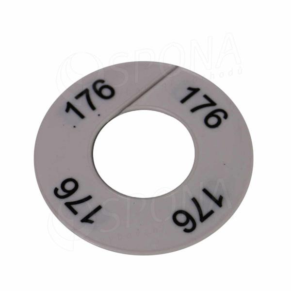 Velikostní kruhy 176 bílé, černé písmo