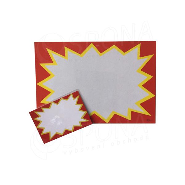 Cenovka plastová popisovací,19 x 13 cm, červená