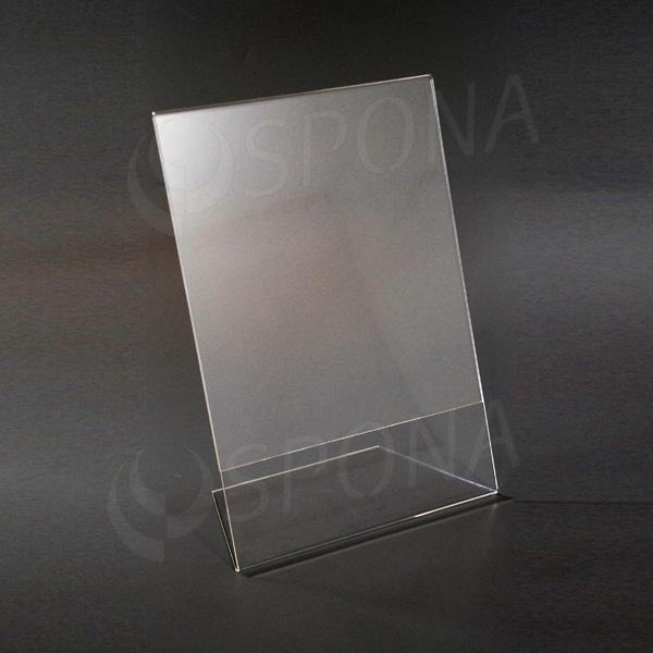 Akrylátový L stojánek A4, na výšku i na šířku, 210 x 297 mm