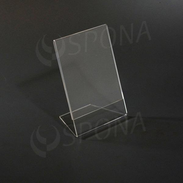 Akrylátový L stojánek A6, na výšku i na šířku, 105 x 148 mm