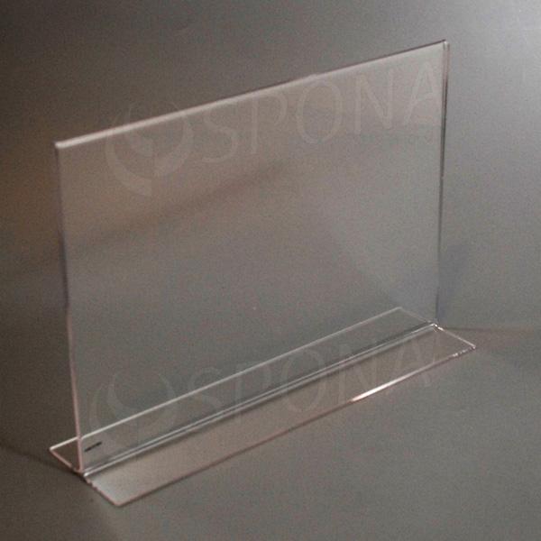 Akrylátový I stojánek A4, na šířku, 297 x 210 mm