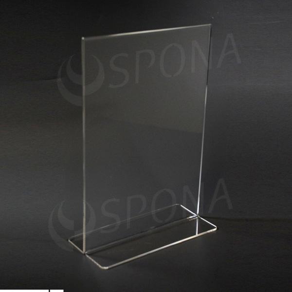 Akrylátový I stojánek A4, na výšku, 210 x 297 mm