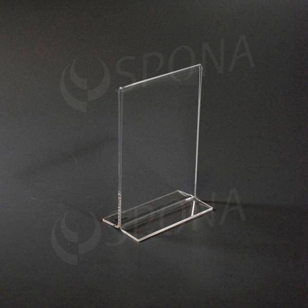 Akrylátový I stojánek A6, na výšku, 105 x 148 mm