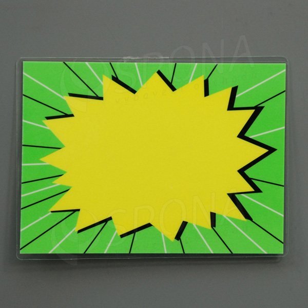 Cenovka plastová popisovací, 13 x 10 cm