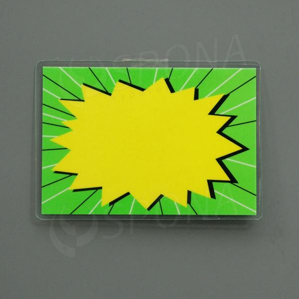 Cenovka plastová popisovací, 19 x 13 cm