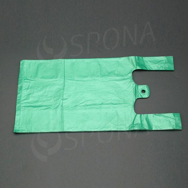Taška HDPE, nosnost 4 kg, zelená, 22 + 10 x 44 cm, 100 ks