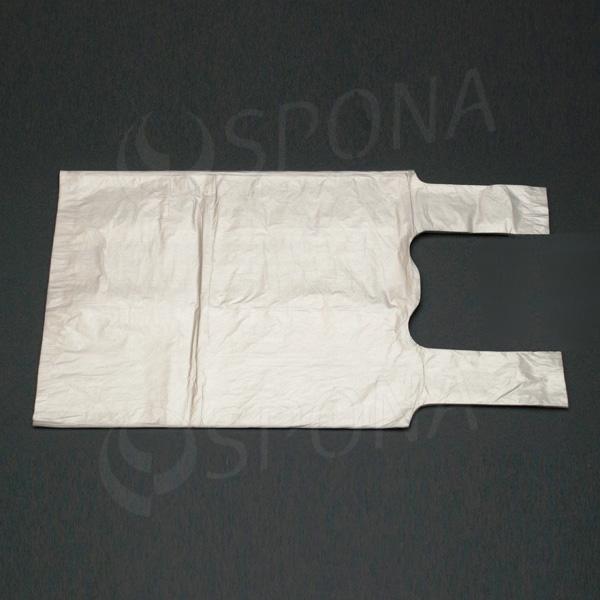 Taška HDPE, nosnost 5 kg, transparentní, 22 + 12 x 46 cm, 100 ks