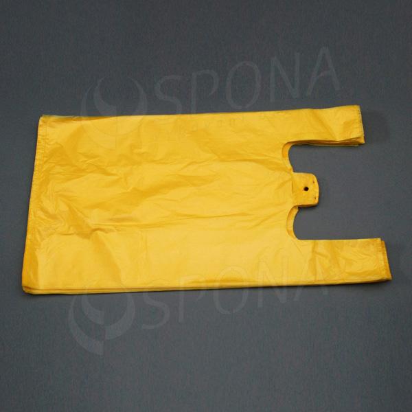Mikrotenová taška HDPE, nosnost 12 kg, žlutá, 33 + 16 x 60 cm, 100 ks