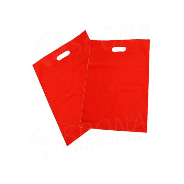 Igelitová taška LDPE 20 x 30 + 5 cm, červená