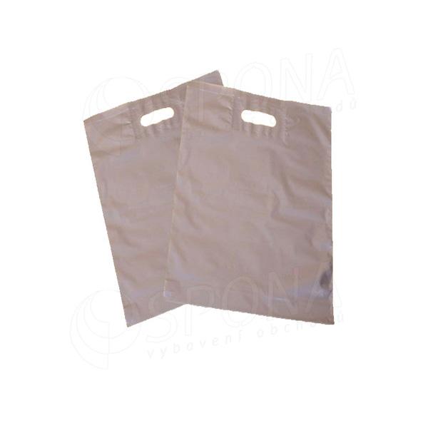 Igelitová taška LDPE 20 x 30 + 5 cm, stříbrná