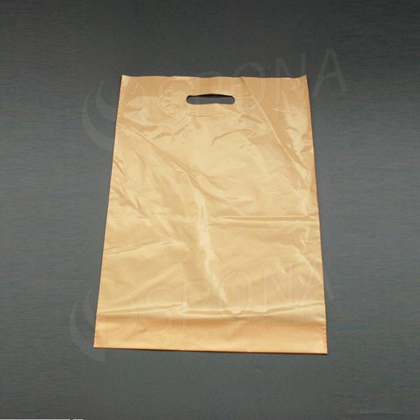 Igelitová taška LDPE 35 x 50 + 5 cm, béžová