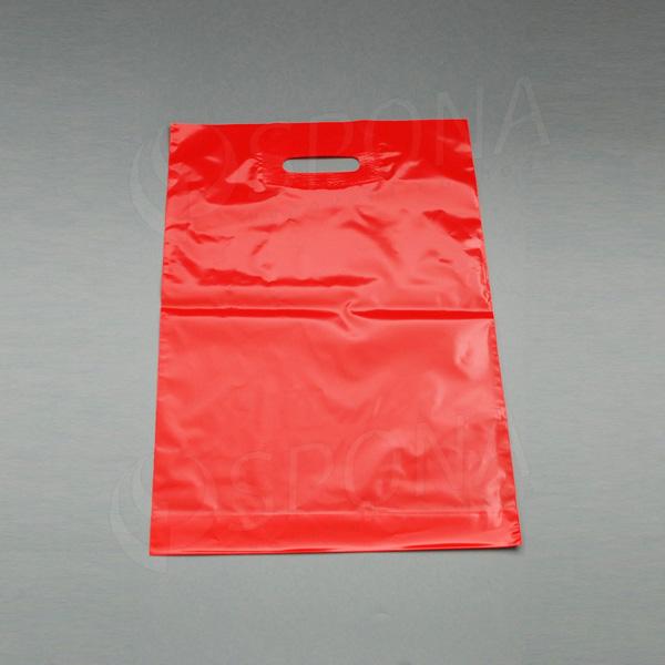 Igelitová taška LDPE 35 x 50 + 5 cm, červená