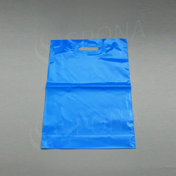 Igelitová taška LDPE 35 x 50 + 5 cm, světle modrá