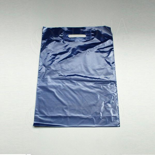 Igelitová taška LDPE 35 x 50 + 5 cm, tmavě modrá