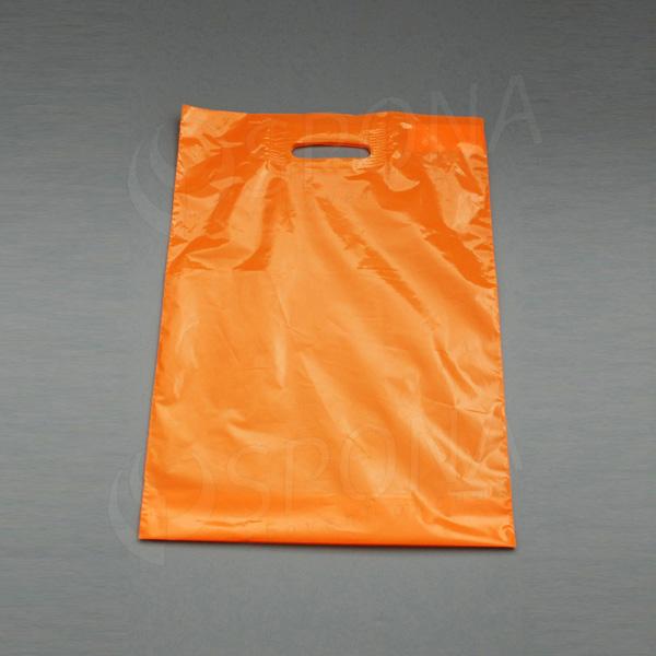 Igelitová taška LDPE 35 x 50 + 5 cm, oranžová