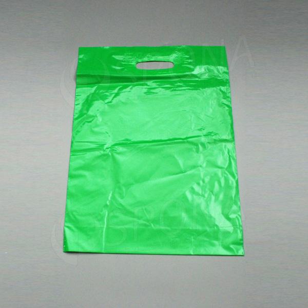 Igelitová taška LDPE 35 x 50 + 5 cm, zelená