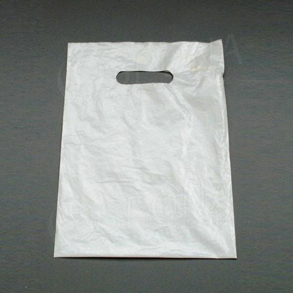 Igelitová taška LDPE 35 x 46 + 5 cm, bílá