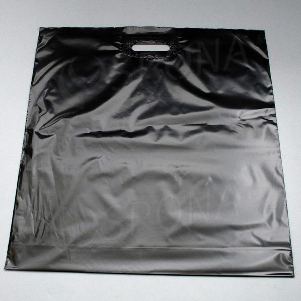 Igelitová taška LDPE 55 x 55 + 5 cm, černá